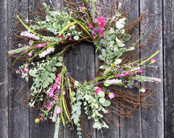 Spring Farmhouse Wreath