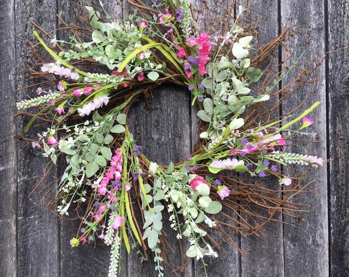 Featured listing image: Spring Farmhouse Wreath