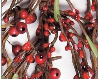 Pip Berry Garland-Red Mixed Berry Garland-Christmas Garland - Primitive Garland--Primitive Decor--Rustic Decor--Free Shipping
