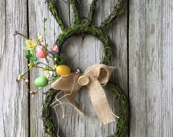 Easter Bunny Wreath with Easter Eggs and Pastel Pip Berries