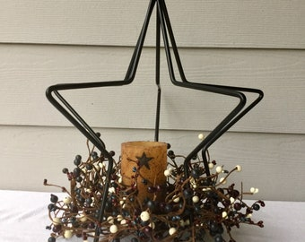 Wrought Iron Star Centerpiece with Pip Berries