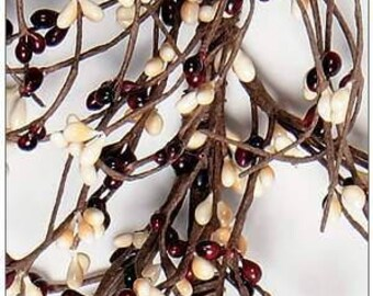 Burgundy and Cream Pip Berry Garland