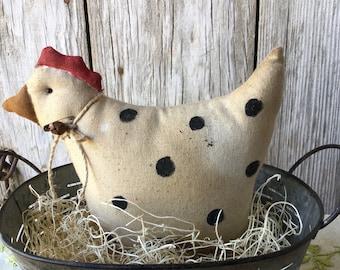 Primitive Chicken and Olive Bucket Basket Centerpiece