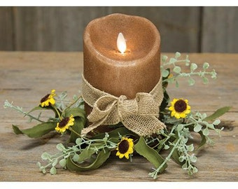 Bird's Eye Daisy Spring Flower Candle Ring