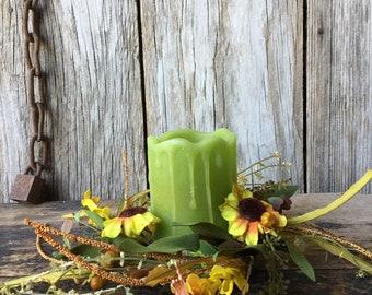 """Sunflower Splendor 4.5"""" Candle Ring"""