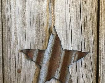 Set of 2 Corrugated Star Ornament