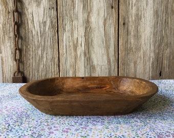Large Wood Dough Bowl