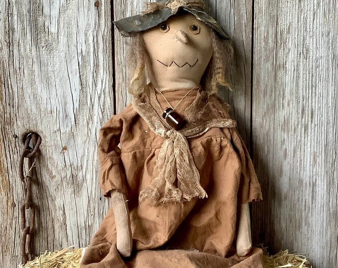 Featured listing image: Primitive Witch Doll