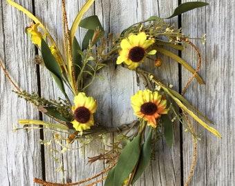 Sunflower Splendor Wreath
