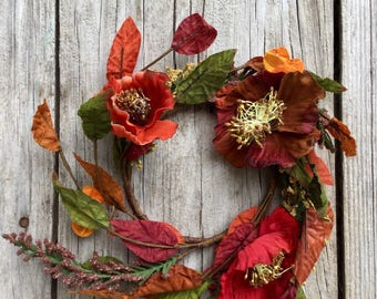 Fall Poppy Candle Ring