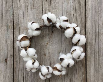 Cotton Boll Candle Ring