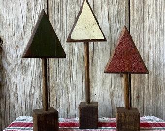 Set of 3 Wood Trees