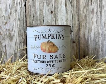 Vintage Inspired Fall Farmers Market Buckets