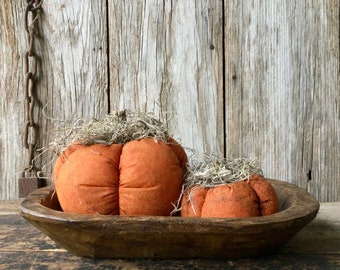 Primitive Scented Fabric Pumpkins