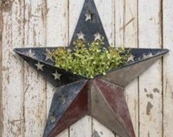 Antiqued Red, White and Blue Pocket Star