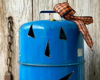 Pumpkin Face Vintage Gas Can
