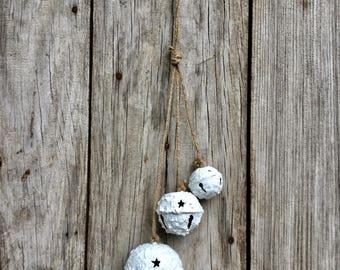 Rustic White Bells Ornament