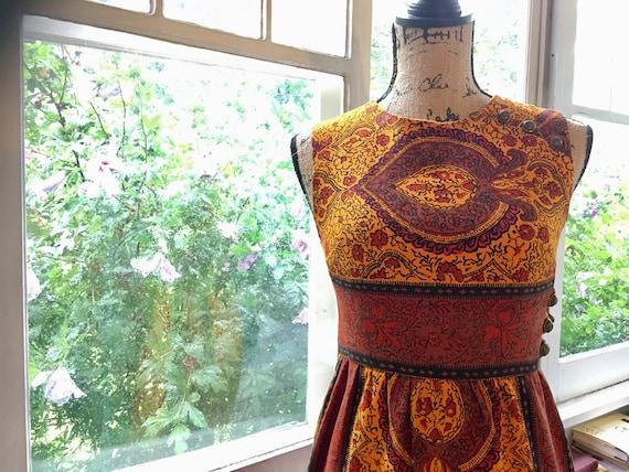 Vintage 1960s Paisley Mini Dress // Peck + Peck - image 1