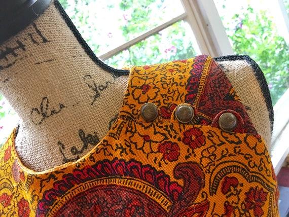 Vintage 1960s Paisley Mini Dress // Peck + Peck - image 6