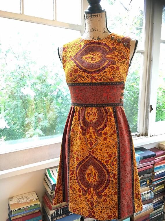 Vintage 1960s Paisley Mini Dress // Peck + Peck - image 2