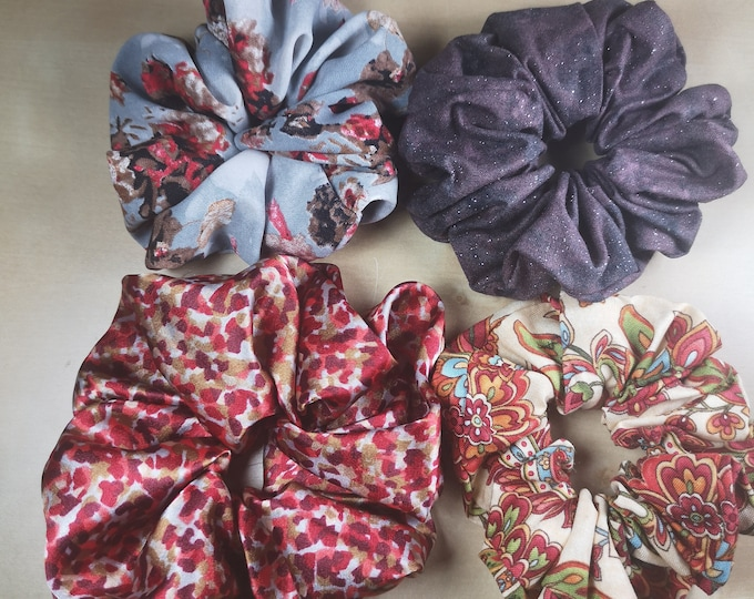 Silky and Cotton Scrunchies