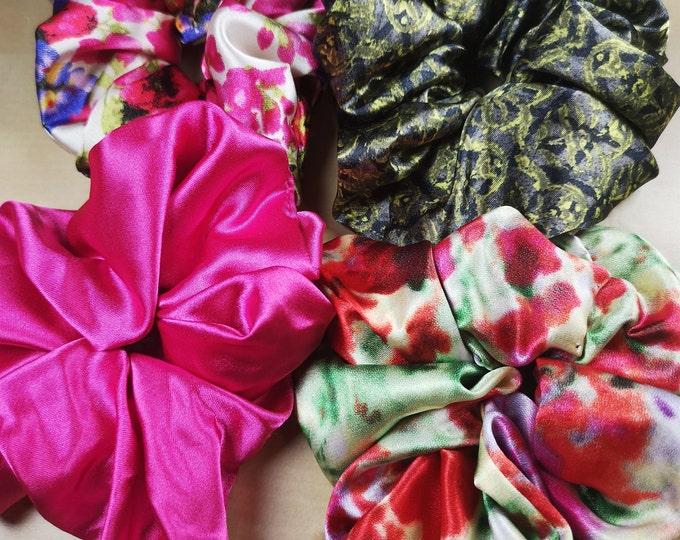Scrunchie; Silk