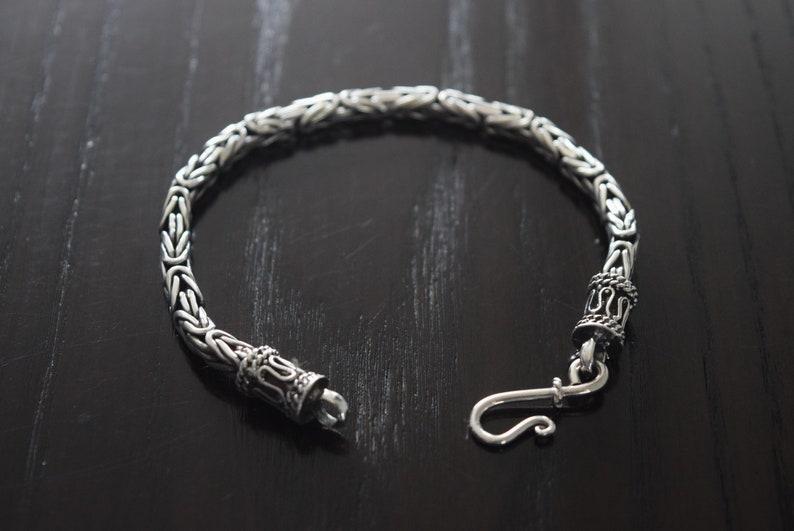 Men 9 25 Sterling Silver Bali Bracelet Handmade Etsy