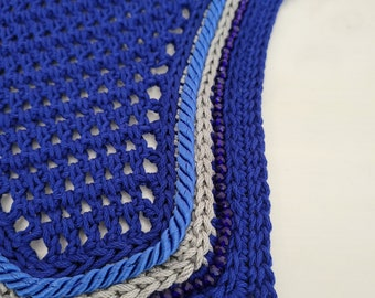 Royal Blue and Grey Horse Fly Bonnet
