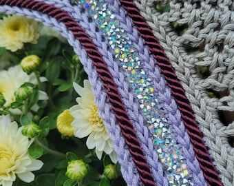 Medium Grey and Purple Horse Fly Bonnet