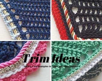 Additional Crochet Trim for Create Your Own Custom Bonnets
