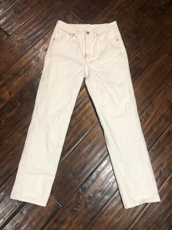 Vintage 1980's White Ralph Lauren Jeans - image 2