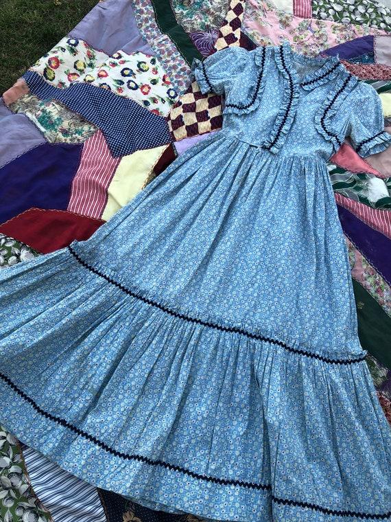 Vintage 1930's Floral Feed Sack Prairie Dress