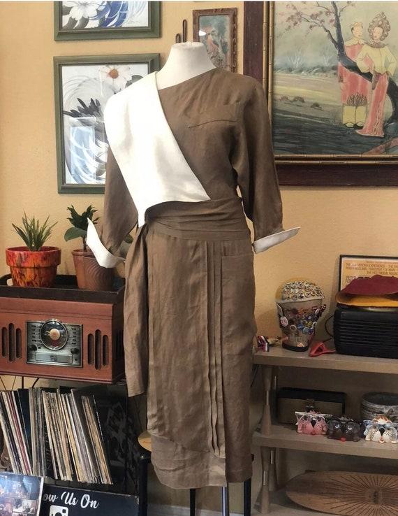 Vintage 1980's Linen Dress