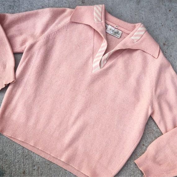 Vintage 1950's Pink Angora Sweater