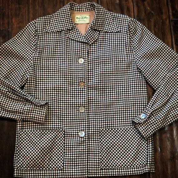 Vintage 1950's Rough Rider Sportswear Wool Jacket