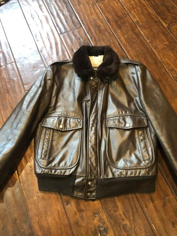 Vintage Leather Flight Jacket size 40