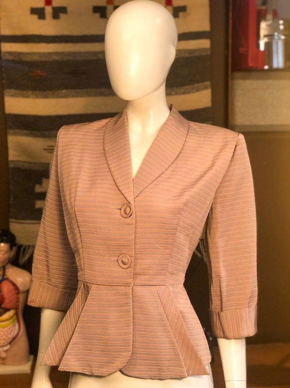 Vintage 1940's Jacket With Peplum