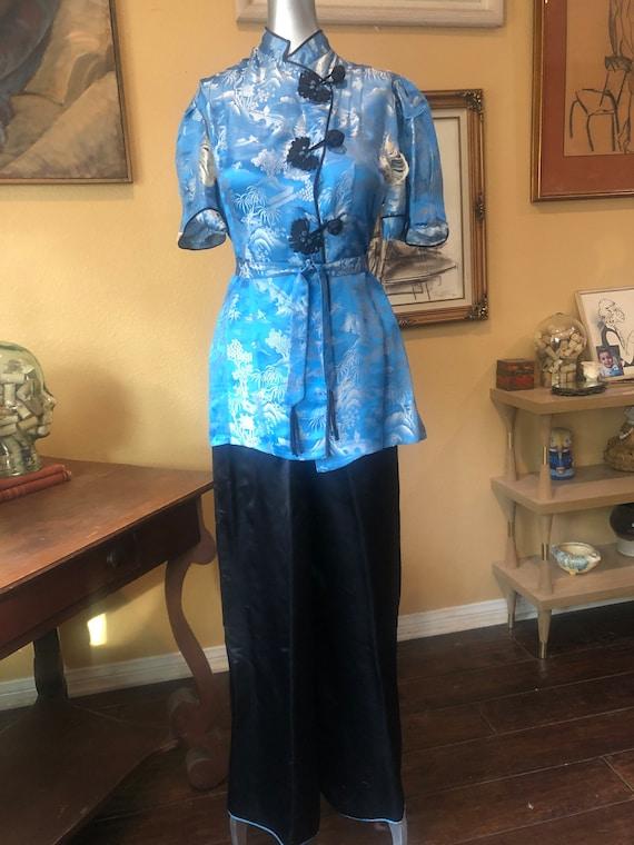 Vintage 1930's-40's Silk Pajamas