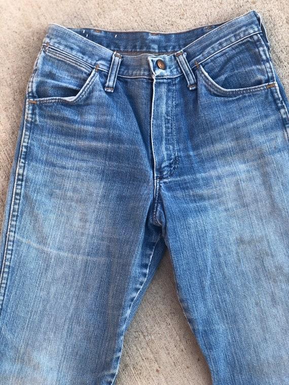 Vintage 1970's Distressed Wrangler Jeans - image 5
