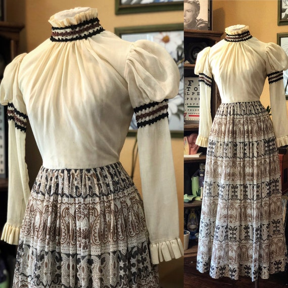 Vintage Victorian Style Dress by Miss Elliette Cal