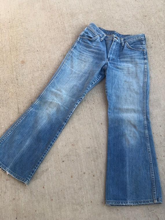 Vintage 1970's Distressed Wrangler Jeans - image 2