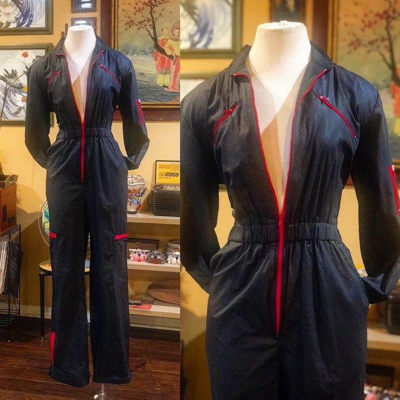 Vintage 1980's Black Jumpsuit