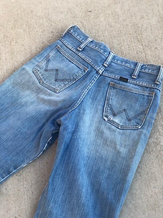 Vintage 1970's Distressed Wrangler Jeans - image 3