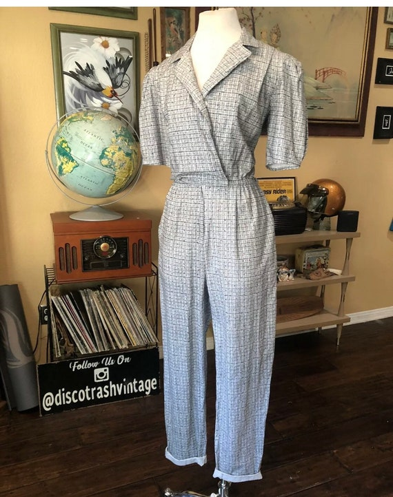 Vintage 1980's Cotton Jumpsuit