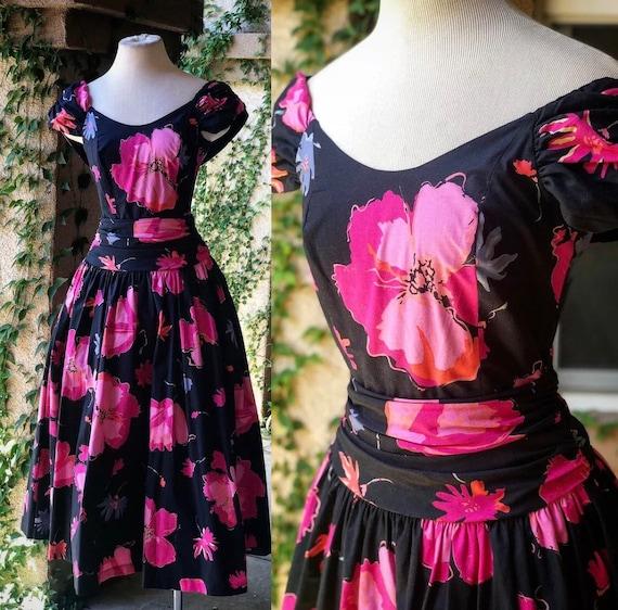 Vintage 1980's Laura Ashley Floral Dress