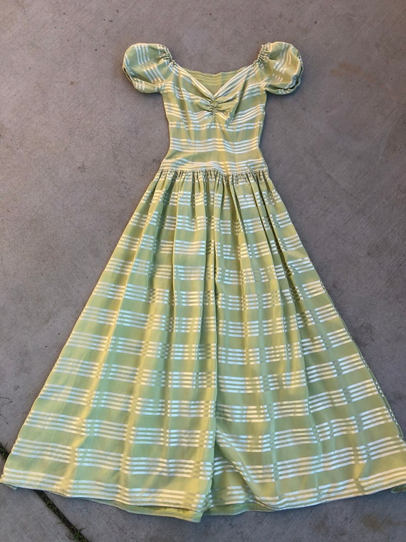 Vintage 1930's Lime Green Dress