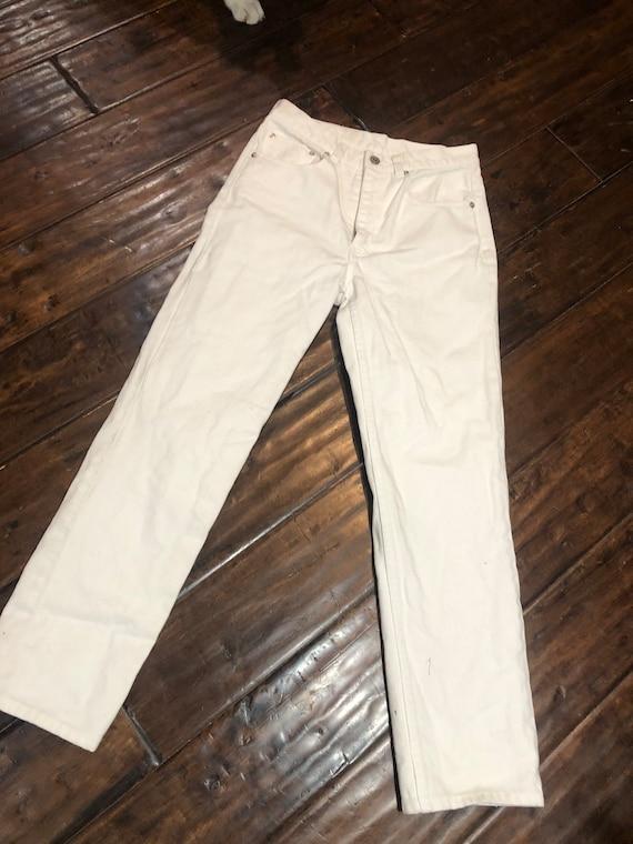 Vintage 1980's White Ralph Lauren Jeans - image 4