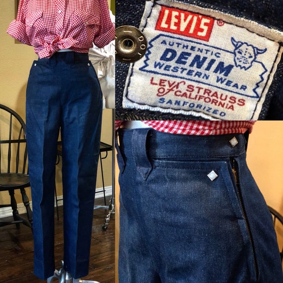 VTG 50's Levi's Strauss Western Wear Sanforized Si