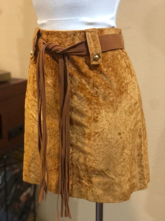 Vintage 1960's Velvet Mini Skirt