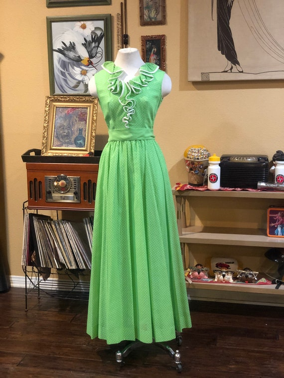 Vintage 1970's Maxi Dress by Miss Elliette